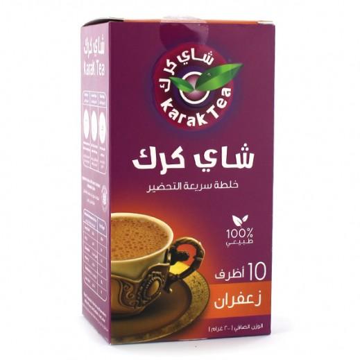 كرك - شاي بنكهة الزعفران سريع التحضير 10 أكياس × 20 جم