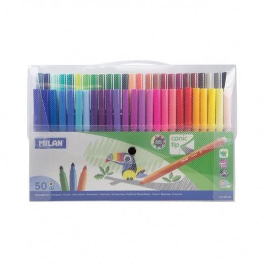 ميلان – طقم أقلام تلوين 50 حبة