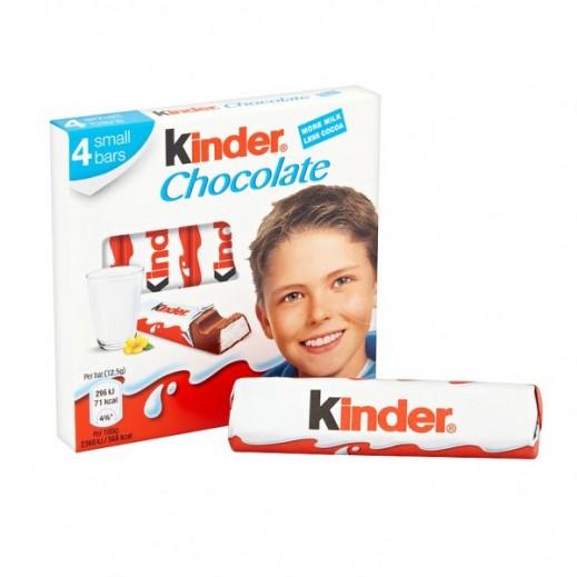 كيندر - شوكولاتة 4 ألواح 50 جم