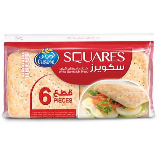 لوزين – سكويرز خبز الساندويتش الأبيض 250 جم (6 قطع)