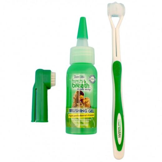 تروبيكلين – طقم تنظيف فم الحيوانات الأليفة
