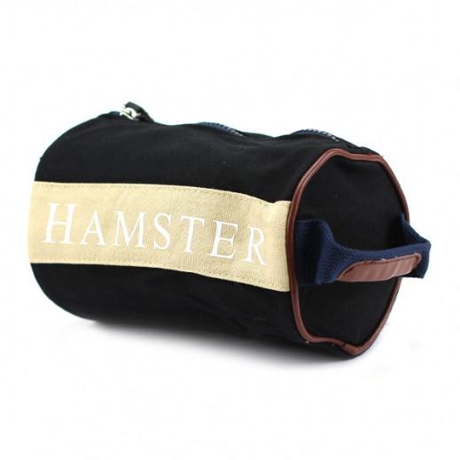 هامستر – حقيبة يد رجال صغيرة أسود/بيج