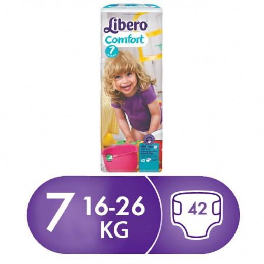 ليبرو – حفاضات أطفال كومفرت فيت المرحلة 7 من 16 – 26 كجم ( 42 حبة )