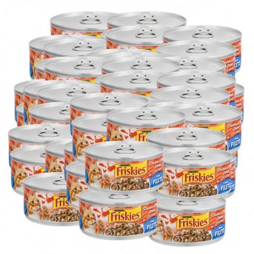 فرسكس – طعام القطط من فيليه الدجاج والتونة مع المرق 156 جم (24 حبة) - أسعار الجملة
