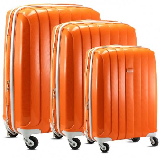 سونادا – طقم حقائب سفر ترولي 3 حبة – برتقالي