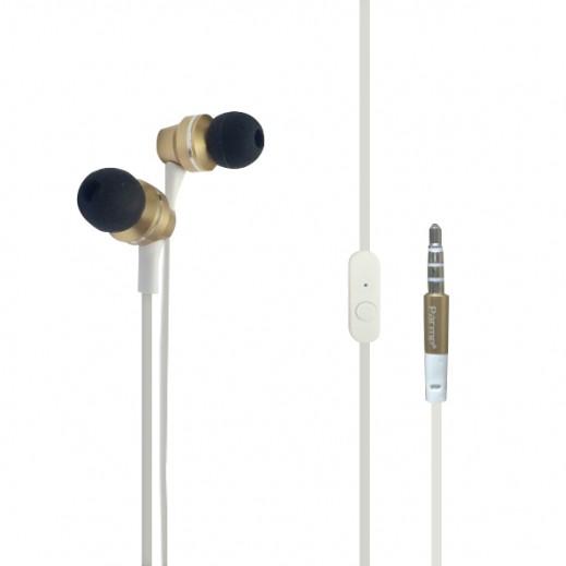 بارمب سماعات اذن داخلية سلسلة المنيوم - ابيض ذهبي