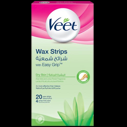 ﭬيت – شرائح شمعية لإزالة الشعر للبشرة الجافة - 20 شريحة