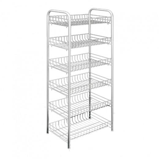 ميتالتيكس - رف تخزين متعدد الاستخدامات 6 طوابق