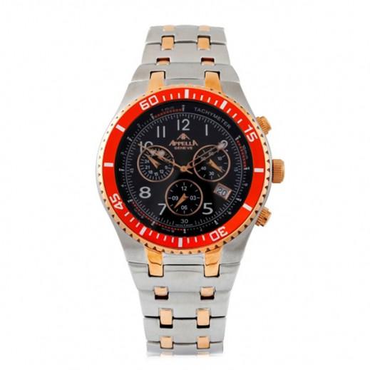 أبيلا – ساعة يد سويسرية  للرجال من الستانليس ستيل موديل AP-4041.05.0.0.04