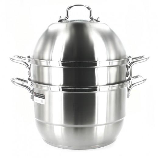 شانسيس- طنجرة طهي الطعام بالبخار بقطر 30 سم
