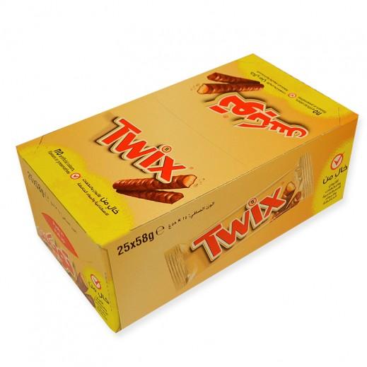 تويكس - الشوكولاتة الأصلية 25 حبة × 50 جم