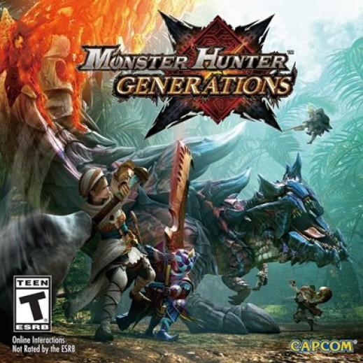 لعبة MONSTER HUNTER GENERATIONS لجهاز نينتندو 3DS نظام NTSC