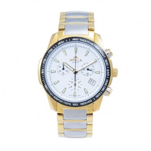 أبيلا – ساعة يد سويسرية  للرجال من الستانليس ستيل موديل (AP-795.02.0.0.01)
