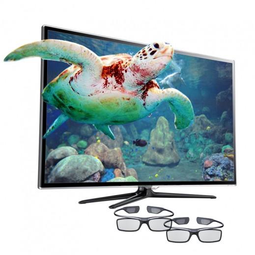 سامسونج - التلفزيون Full HD الذكي 55 بوصة + 2 نظارة ثلاثية الأبعاد