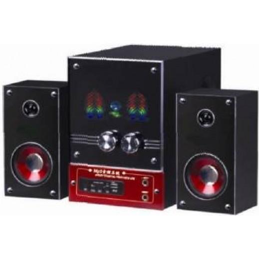 جامبو جهاز مسرح صوتي 2.1 قناة مع وظائف USB / بطاقة SD/ جهاز تحكم عن بعد/ راديو FM رقم