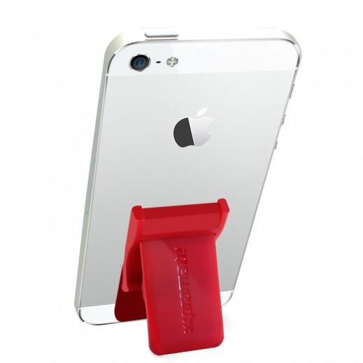 بروميت مقبض اصبع آمن متعدد التوافق مع قاعدة تثبيت قابلة للسحب اللون احمر