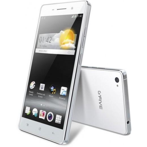 جوال GFIVE XHERO 7 مزدوج الشريحة 3G اندرويد 4.4 كيت كات، 8 جيجابايت - ابيض