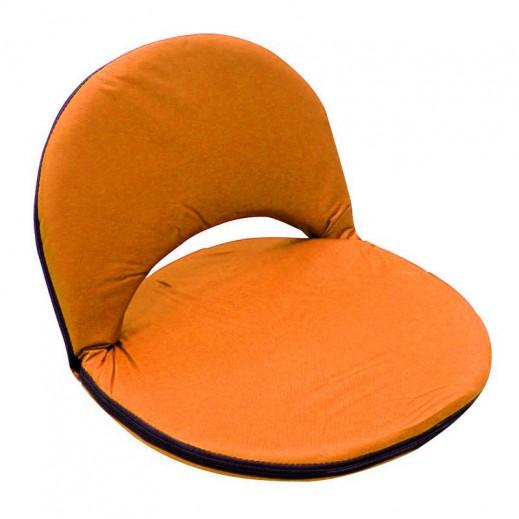 مقعد أرضي بظهر قابل للطي والتعديل - برتقالي
