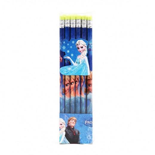 طقم أقلام رصاص بممحاة بتصميم فروزن 36 حبة
