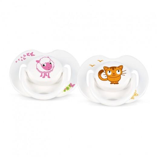 فيليبس – لهاية الأطفال مع رسوم حيوانات من عمر 6 حتى 18 شهر – 2 حبة
