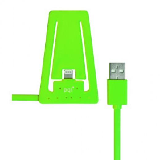 بي كيو آي – كيبل شحن بستاند للموبايل - أخضر