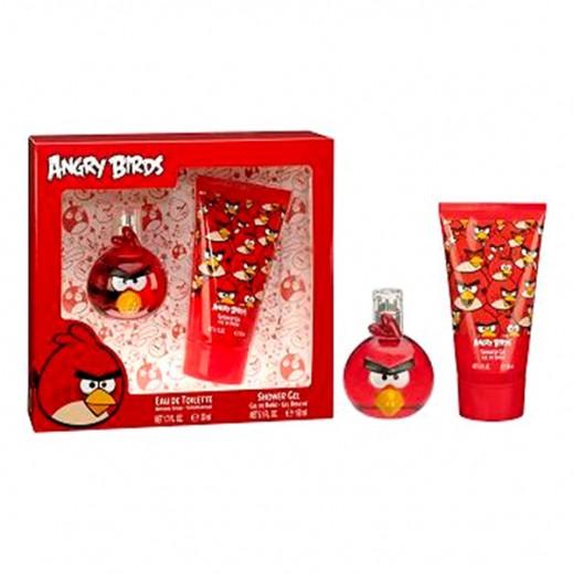 أنجري بيردس – طقم كولونيا للأطفال 50 مل - أحمر + 150 جل استحمام