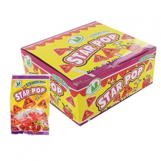 حلوى ستار بوب بالفراولة 24 حبة × 15 جم
