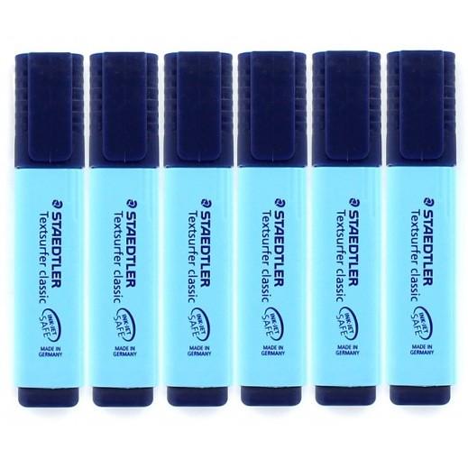 ستدلر تكست سيرفر – أقلام الإظهار – أزرق (6 قلم) – عرض التوفير