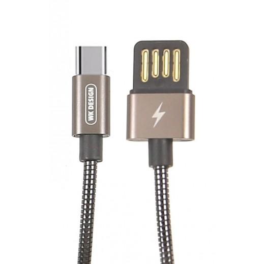 WK Design USB Type-C Cable 1 M - Tarnish