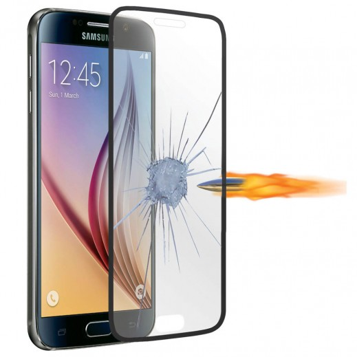 Promate Tempered Optical Glass Ultra-thin Screen Protector For Galaxy S6 Black