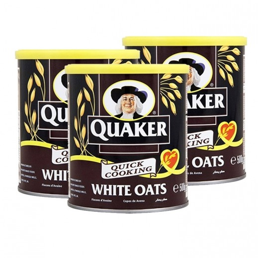 Quaker White Oats Tin 3x500 g