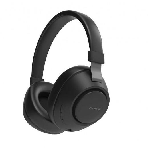 Porodo Soundtec Wireless Over-Ear Headphone – Black