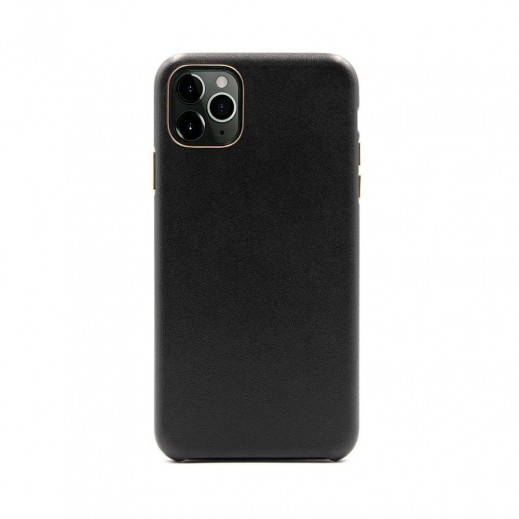 Porodo Leather Back Case iPhone 11 Pro - Black