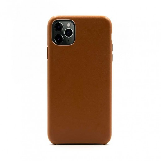 Porodo Leather Back Case iPhone 11 Pro - Brown
