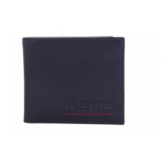 U.S. Polo Assn PLCUZ6659 Leather Wallet Mens Navy Blue