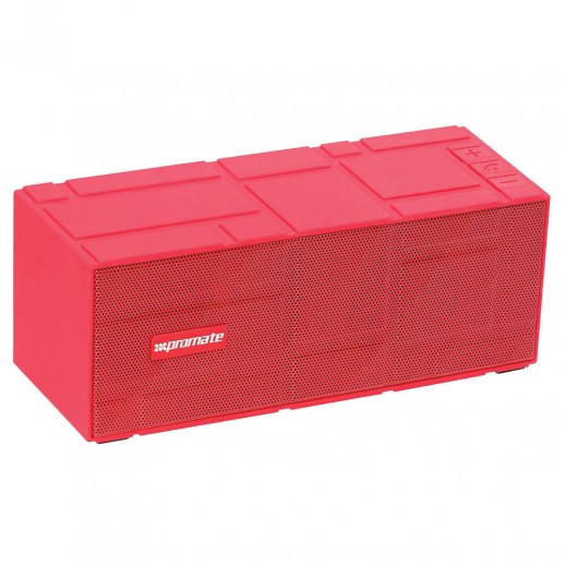 Promate LavaBar Portable Wireless Speaker with Hands-Free Red