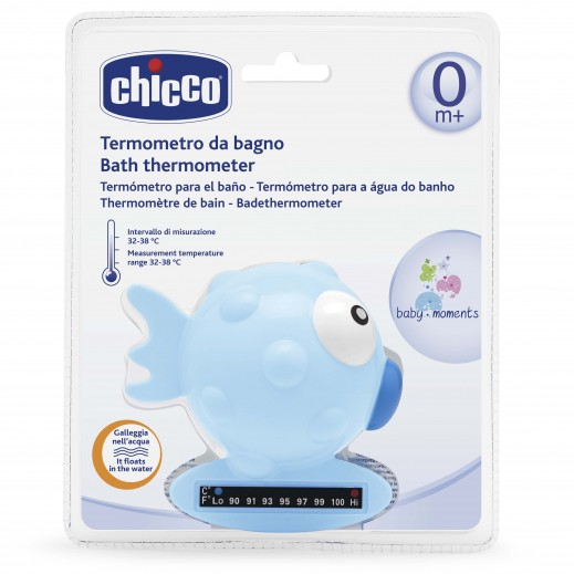 Chicco Bath Thermometer Fish Light Blue
