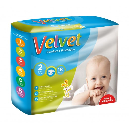 Velvet Small Stage 2 (3-6 kg) 18 Pieces