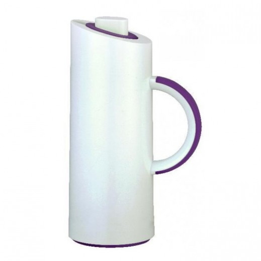 Xtra Mono Vacuum Flask White and Purple - 1 L