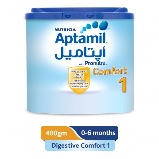 Aptamil Infant Milk Formula Comfort Stage 1 400 g (From 0-6 Months)