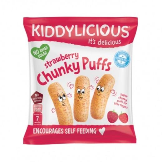 Kiddylicious Strawberry Chunky Puffs (7+ Months) 12 g