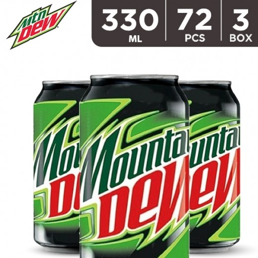 Mountain Dew Can 72 x 330 ml