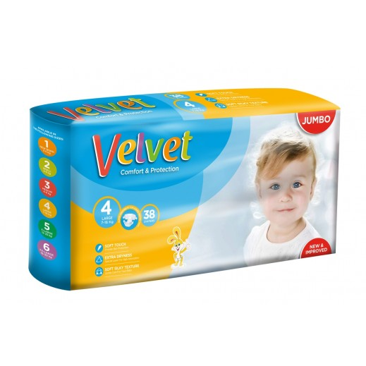 Velvet Large Stage 4 (7-16 kg) 38 Pieces