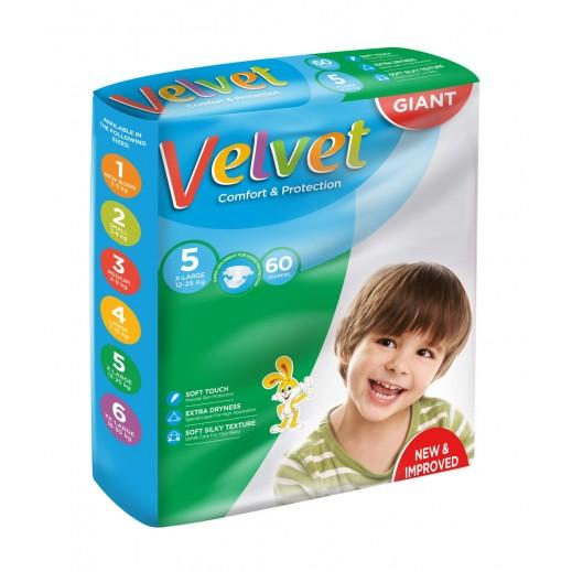 Velvet Xlarge Stage 5 (12-25 kg) 60 Pieces