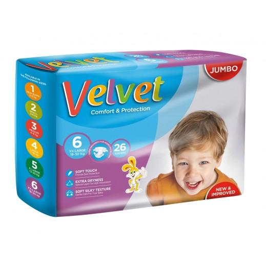 Velvet XXlarge Stage 6 (18-30 kg) 26 Pieces