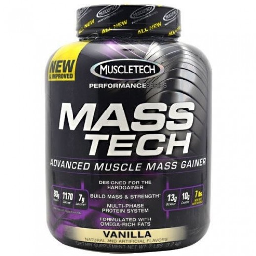 MuscleTech Vanilla Mass Tech Superior Weight Gain Formula - 3.2 kg