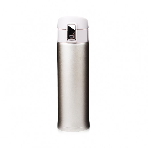 Stainless Steel Flask with Pouch 450 ml