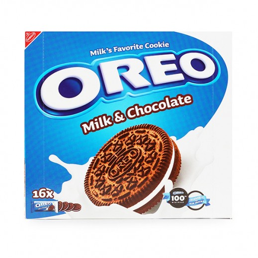 Oreo Milk & Chocolate Cookies Biscuits 16×38 g