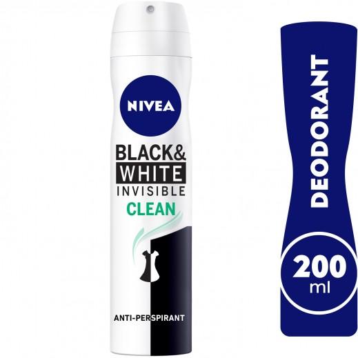 Nivea Women Invisible Black & White Clean Deo Spray 200 ml