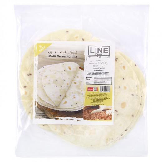 Line Food Multi Cereal Tortilla Bread 200 g (5 Pieces)